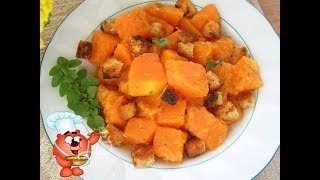 Рецепт жаренной тыквы на сковороде. Вкусное блюдо из тыквы