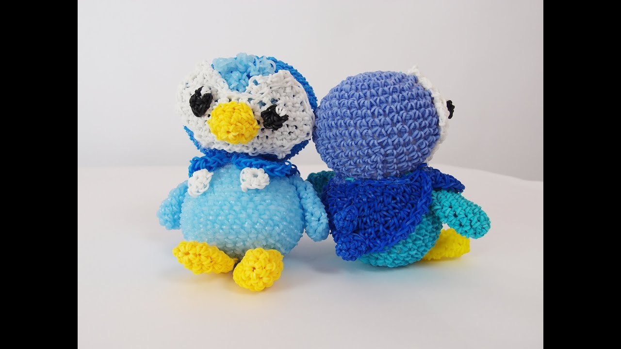 Amigurumi Tutorial Pokemon : Piplup Pokemon Rainbow Loom Bands Amigurumi Loomigurumi ...