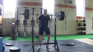 High Bar Squat 3 Rep Set Set 1 of 4