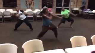 church clap hip hop dance rehearsal