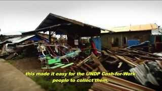 Typhoon Pablo: UNDP cash-for-work activities in Boston, Davao Oriental