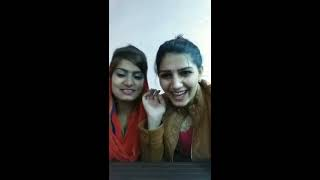Sapna Chaudhary And Monika Chaudhary Is Live Talking About New Haryanvi Song