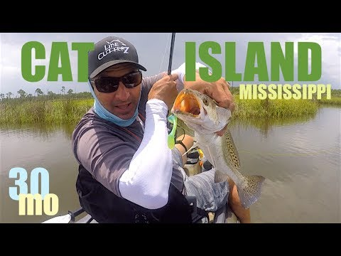 Cat Island Mississippi - Speckled Trout Kayak Fishing