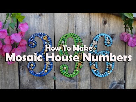 Mosaics Tutorials: How To Mosaic House Numbers