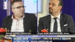Konya Bağımsız Milletvekili Adayı Özgür AKIN  ERT Tv  Seçim 2011 Programında_1