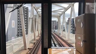 北大阪急行9000系 緑地公園〜江坂間前面展望