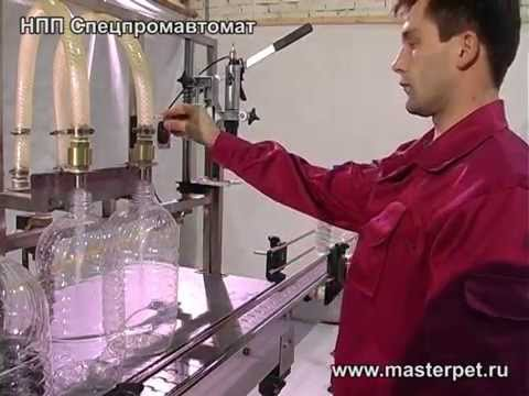 Полуавтоматический моноблок розлива–укупорки воды в ПЭТ-тару, МР-02УМ2 — НПП Спецпромавтомат
