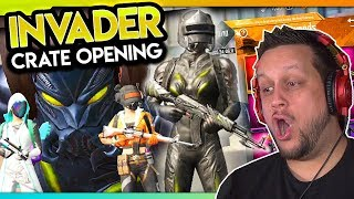 INVADER CRATE OPENING - GUARANTEED LEGENDARY! PUBG Mobile
