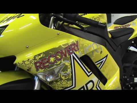 Auto Trim DESIGN Rockstar Recovery Energy Drink Promotional Graphic Kit - 2008 Kawasaki Ninja ZX-6R