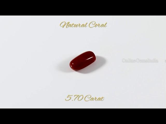NATURAL RED CORAL (ITALIAN ) 5.70 CARAT