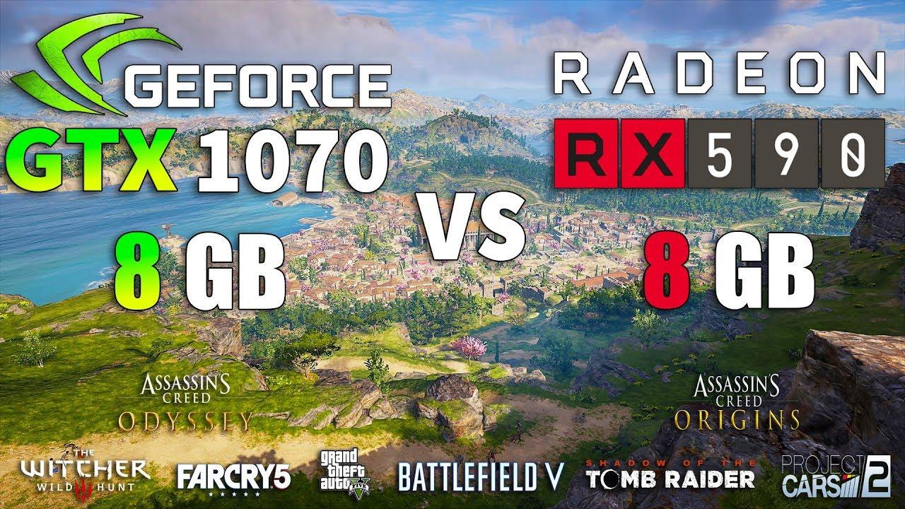 RX 590 vs GTX 1070 Test in 8 Games