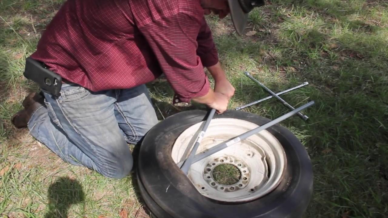 How to fix a flat wheelbarrow tire - YouTube
