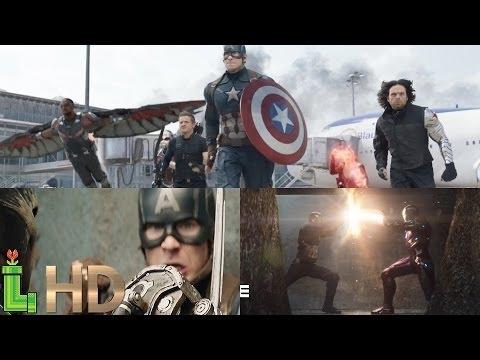 Captain America Civil War - ALL FIGHT SCENES (Opening, Airport & Final Battle) HD