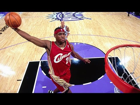 LeBron James' First NBA Game