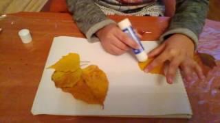 Дары золотой осени - аппликации из листьев