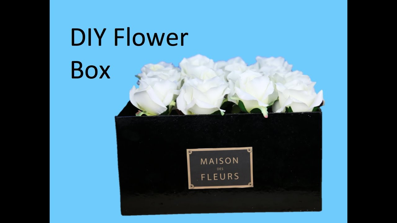 diy flower box make your own maison des fleurs box youtube. Black Bedroom Furniture Sets. Home Design Ideas