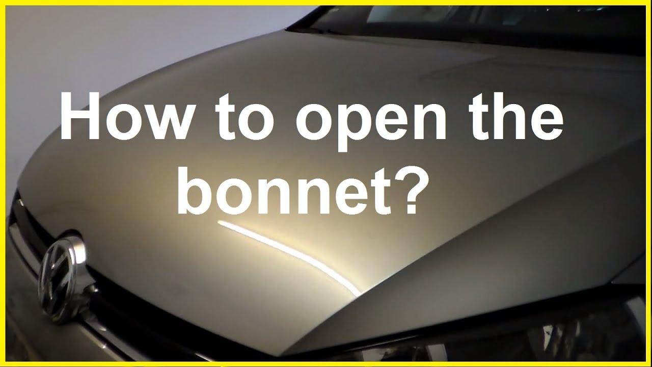 how to open bonnet or hood on vw jetta or golf open hood