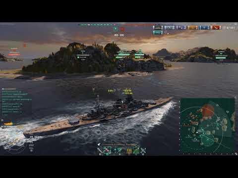 World of Warships-Fault Line-Scharnhorst-97k damage ish