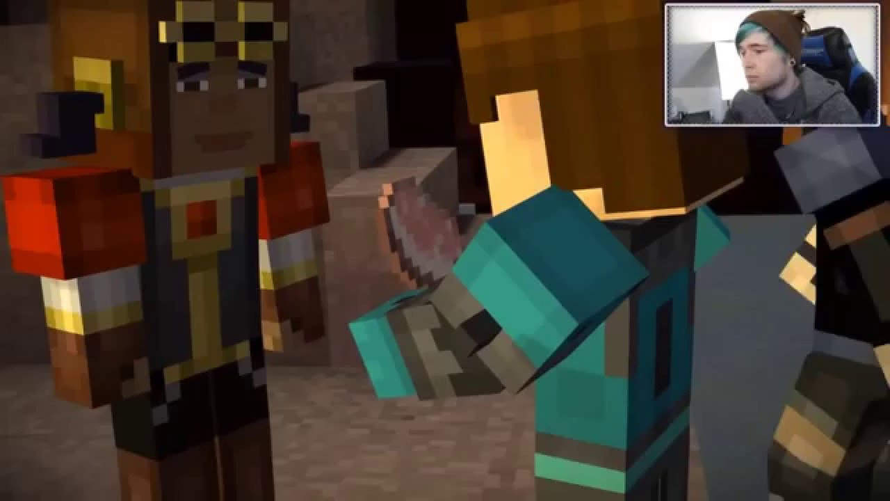 Minecraft Story Mode Ruben S Death Ending Youtubers Crying