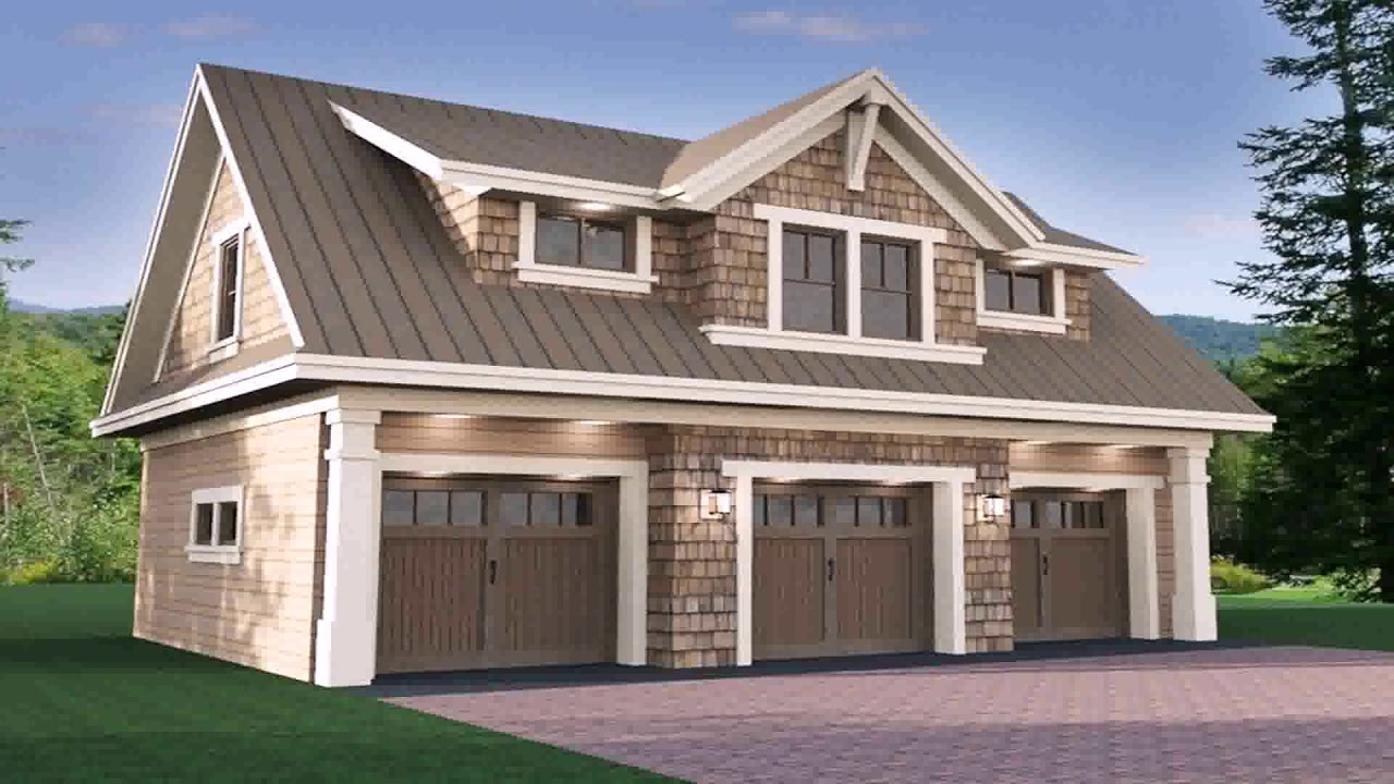 Small house plans with 3 car garage youtube for Small garage plans free