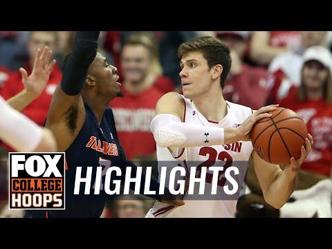 Wisconsin vs Illinois | Highlights | FOX COLLEGE HOOPS