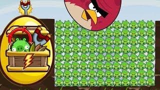 Angry Birds - 4 x GOLDEN EGG BIRDS VS 100 BAD PIGGIES POACHED EGGS