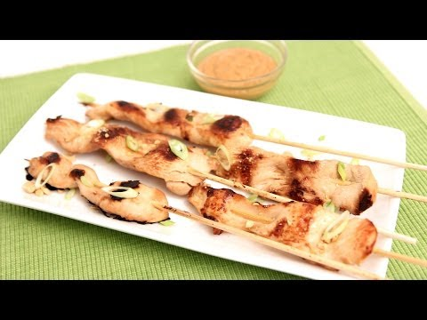 Chicken Satay with Peanut Sauce Recipe - Laura Vitale - Laura in the Kitchen Episode 779
