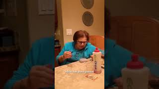 Old Lady trying to use google assistant for the first time.[Hillarious Video] Hey goo goo