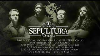 SEPULTURA - 30th Anniversary Tour w/ Destruction, Arsis (OFFICIAL TRAILER)