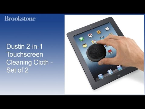 Set of 2 Dustin 2-in-1 Touchscreen Cleaning Cloth