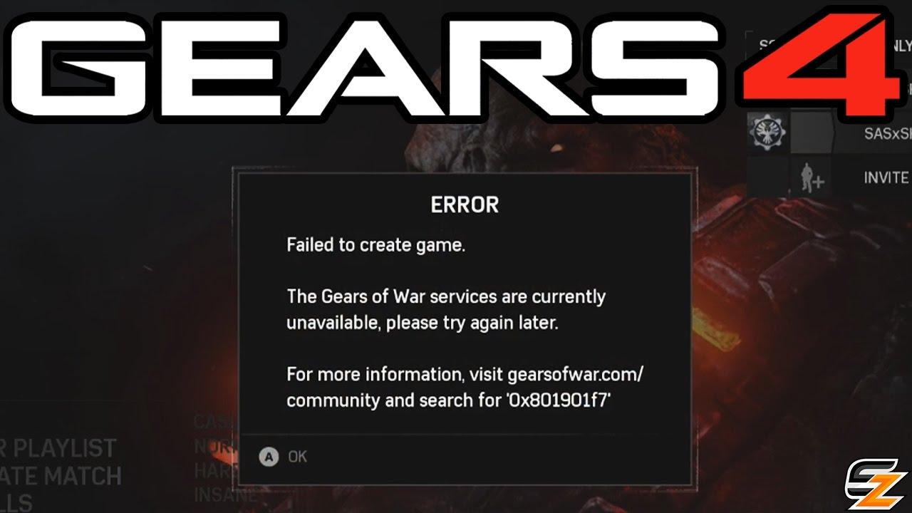 Gears of War 4 Server Problems - Not earning Credits/XP, 0x00000d1c Error  Code & More!