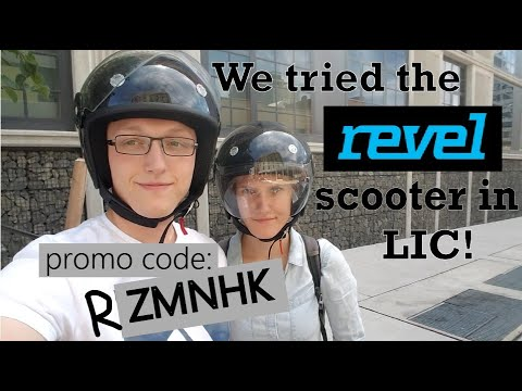 (Revel Scooter Promo Code ZMNHK) We tried the Revel scooter rental in  Queens!
