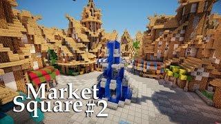 minecraft medieval market square stall tutorial