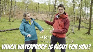 Rab Gear Guide - Which waterproof is right for you?