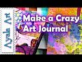How to make a journal design for beginners with Crazy Pages Art - EASY journal DIY Tutorial 2