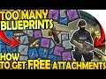 TOO MANY BLUEPRINTS! (How to get FREE Weapon Attachments) - Last Day On Earth Survival Update 1.9