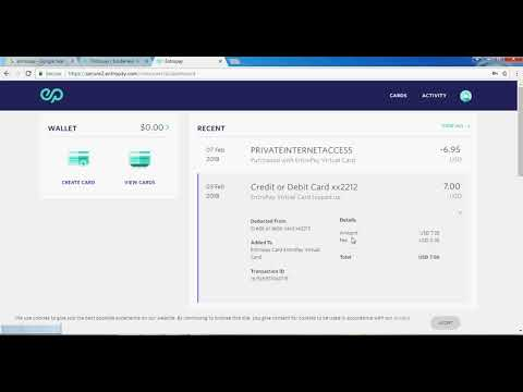 Entropay prepaid credit card 2018 | Free credit card for international payment 2018