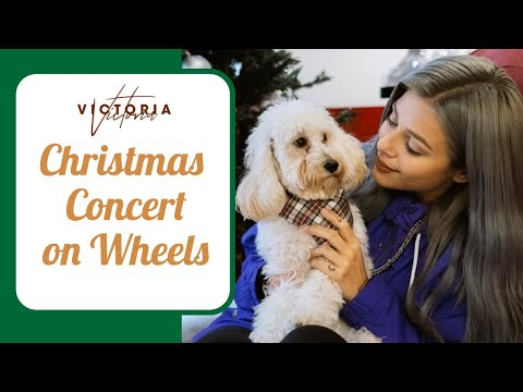 ??????? ??????? ? ???????? ? Christmas concert on wheels with VICTORIA