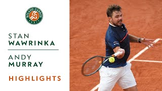Stan Wawrinka vs Andy Murray - Round 1 Highlights Roland-Garros 2020