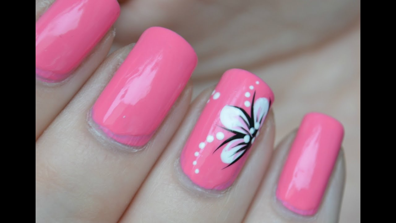 Free Hand NailArt door Ramona | nailsbyLaura.nl - YouTube