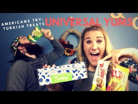 AMERICAN'S TRY TURKISH TREATS | Universal Yums