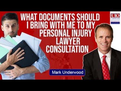 What documents should I take to a personal injury lawyer consultation?