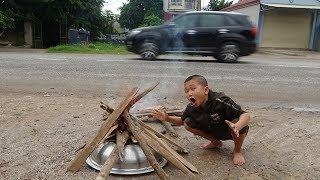 Nấu Ăn Giữa Đường - Mao Đệ Cùng Đệ Tự Mới Làm Món Bánh Piza Úp Nồi Cực Hài Hước Và Kết Quả Bất Ngờ