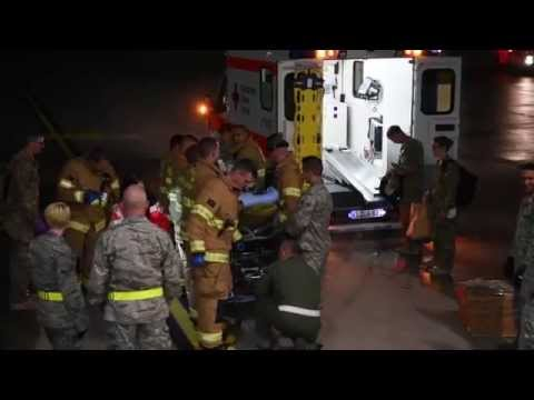 RAW:  Medical Evacuation at Ramstein Air Base