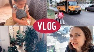 Учу читать Вику. Мы прилетели в США. Начало путешествия! Влог семьи Качановых.