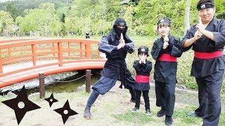 ★「忍者村からの挑戦状~!」からくり屋敷&忍者修行★しのびの里前編★Oshino Ninja village 1★