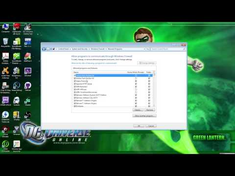 How to Add DC Universe Online as a Firewall Exception