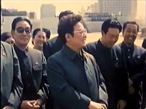 Comrades Kim Il-sung and Kim Jong-il working together