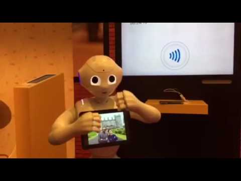 Pepper the robot at the World Cities Summit