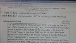 Federal Housing Administration (FHA) CA Real Estate License Exam Top Pass Words VocabUBee.com